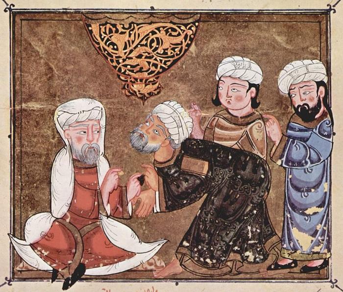 لوحة أبو زيد يشكو إلى القاضي