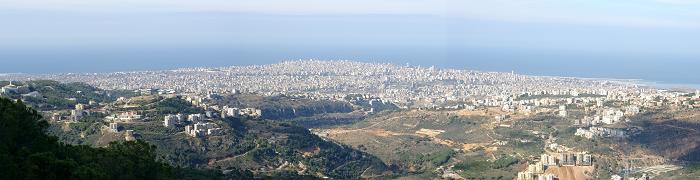 منظر بانوراما لمدينة بيروت في لبنان