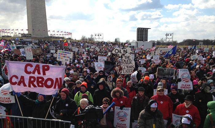 متظاهرون ضد تغير المناخ في واشنطن العاصمة