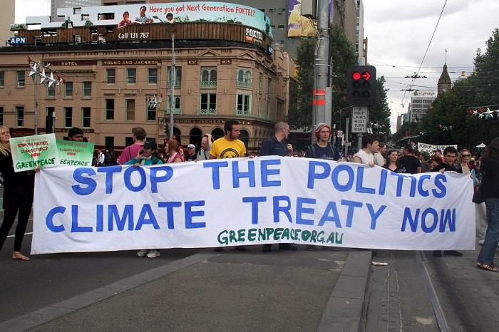 متظاهرون ضد تغير المناخ في أستراليا