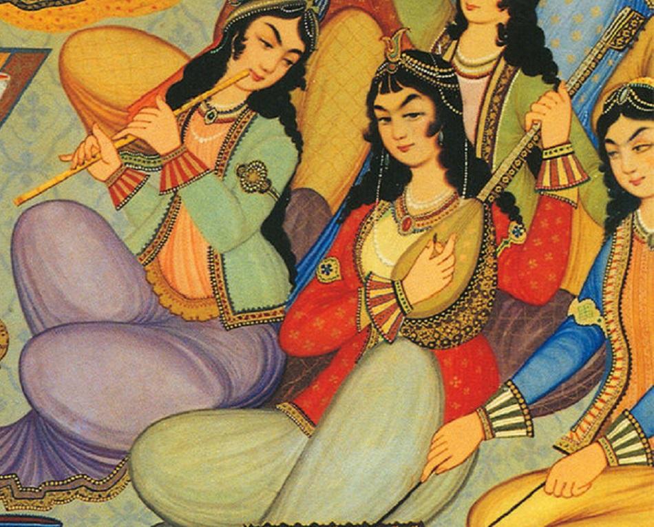 لوحة إيرانية تظهر الأنف الفارسية