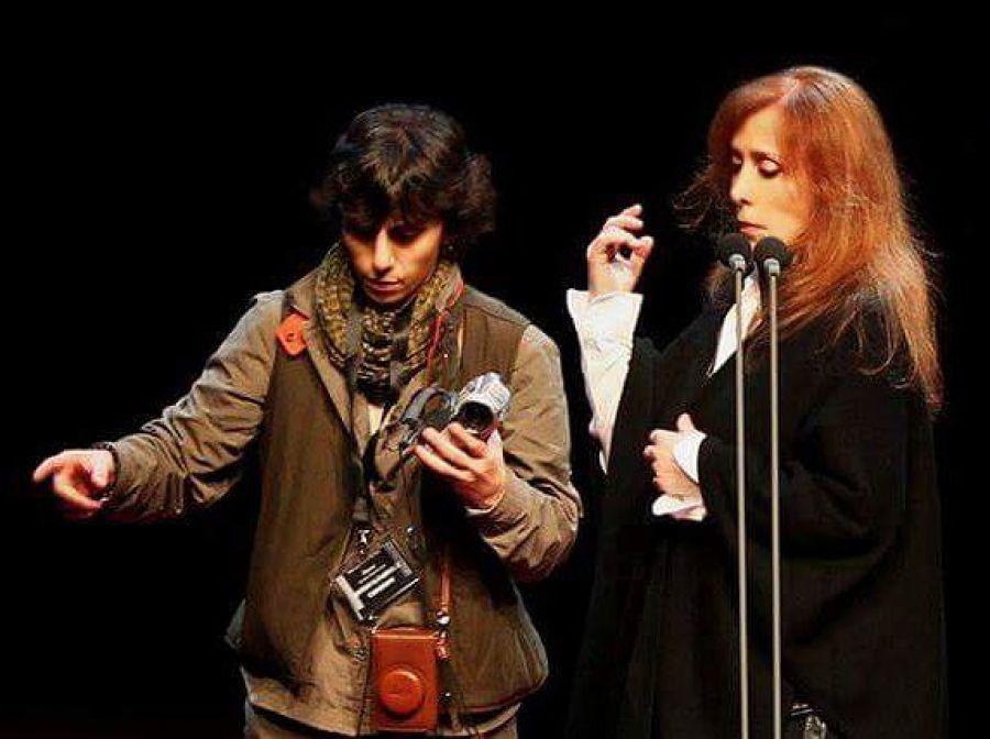 السيدة فيروز مع ابنتها ريما الرحباني
