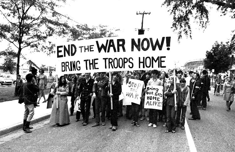 مظاهرة ضد حرب فيتنام في أمريكا عام 1969