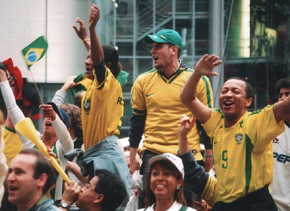مشجعين منتخب الكرة البرازيلي