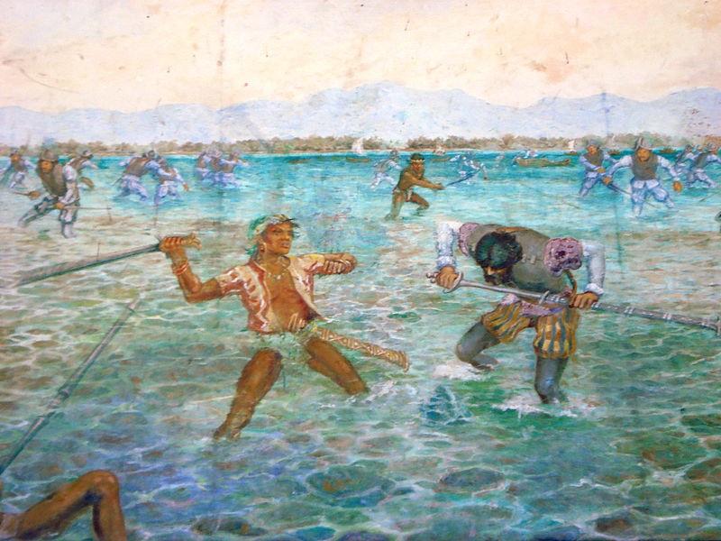رسم يصور انتصار لابو لابو على ماغلان