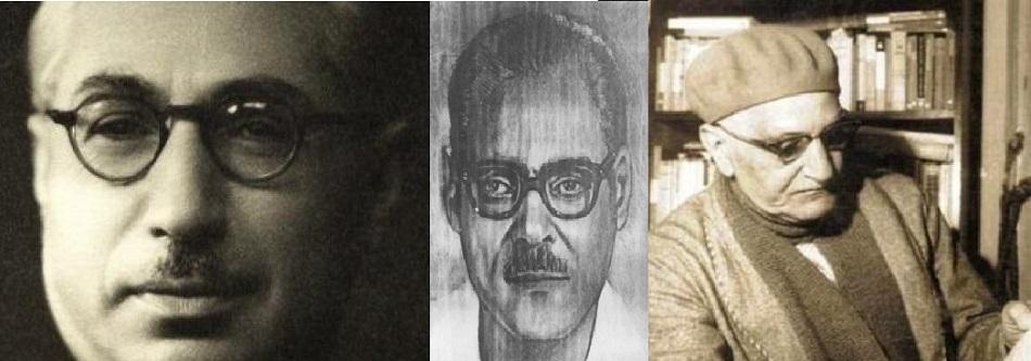 محمد حسين هيكل وعباس العقاد ودريني خشبة
