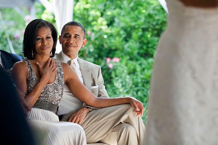 أوباما مع زوجته ميشيل