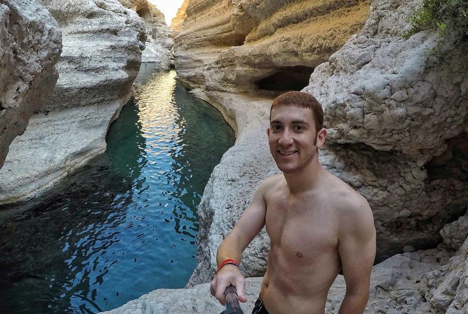درو بينسكي في وادي شاب العماني