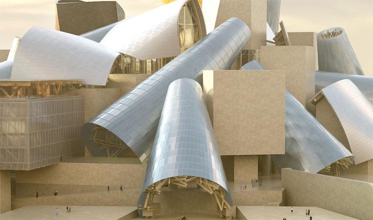 نموذج لمتحف غوغنهايم أبو ظبي