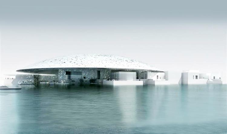 رسم لمتحف اللوفر في جزيرة السعديات