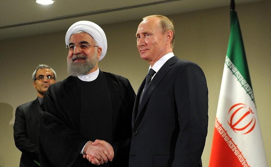 الرئيس الإيراني ونظيره الروسي
