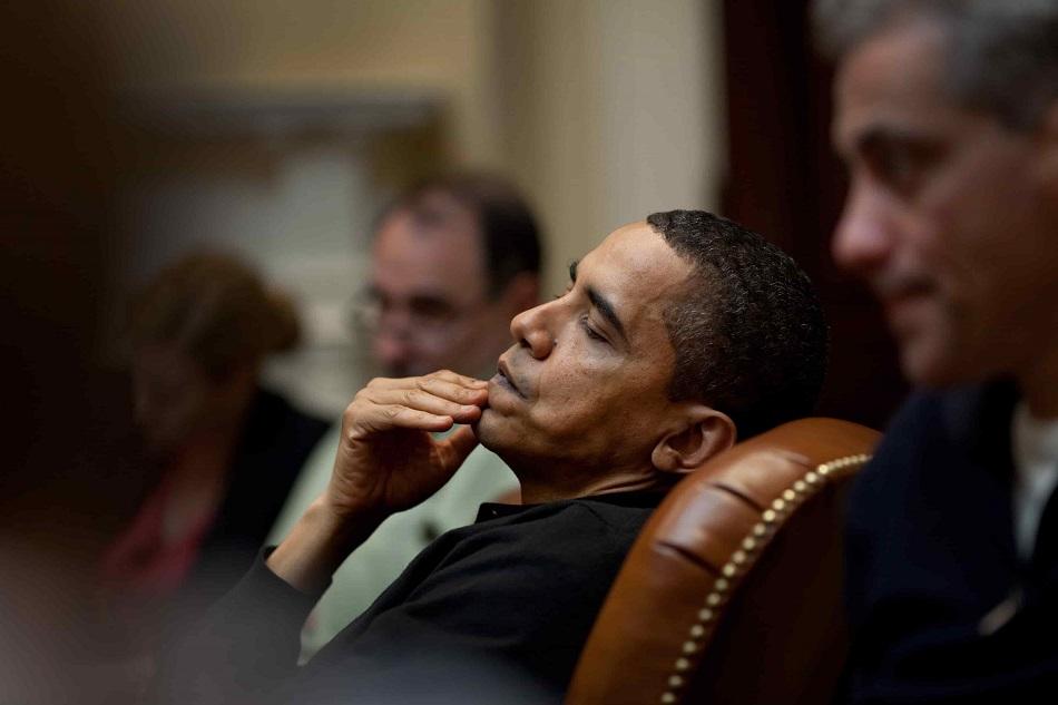 أوباما في راحة من العمل