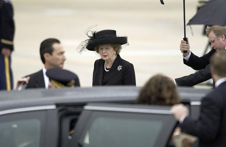 رئيسة الوزراء البريطانية السابقة مارجريت تاتشر