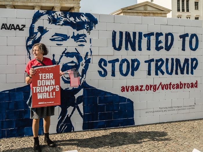 غرافيتي دونالد ترامب