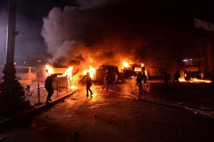 اشتباكات من مظاهرات «يوروميدن» في أوكرانيا
