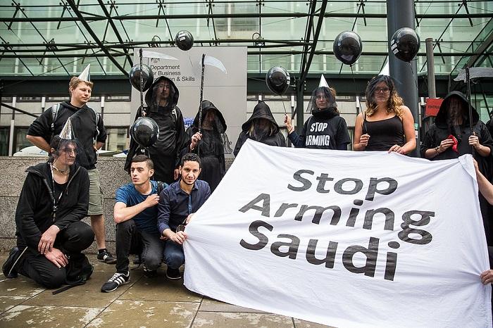 مظاهرة ضد انتهاك حقوق الإنسان في السعودية