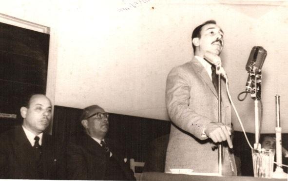 المعارض السعودي ناصر السعيد في إذاعة صوت العرب بالقاهرة