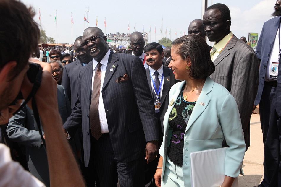 مبعوثة الأمم المتحدة ما نائب رئيس جنوب السودان