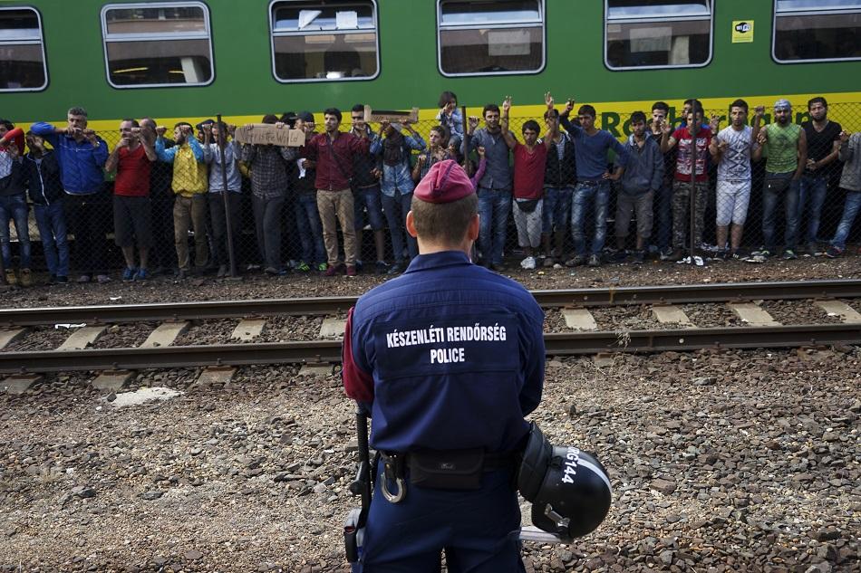 لاجئون سوريون في بودابست عاصمة المجر