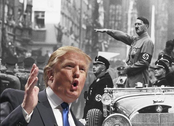 صورة تعبيرية لترامب وهتلر