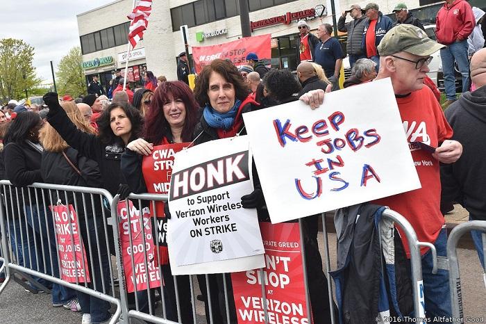مظاهرات أمريكية لتوفير فرص العمل