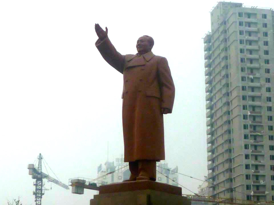 تمثال ماو تسي تونغ في الصين