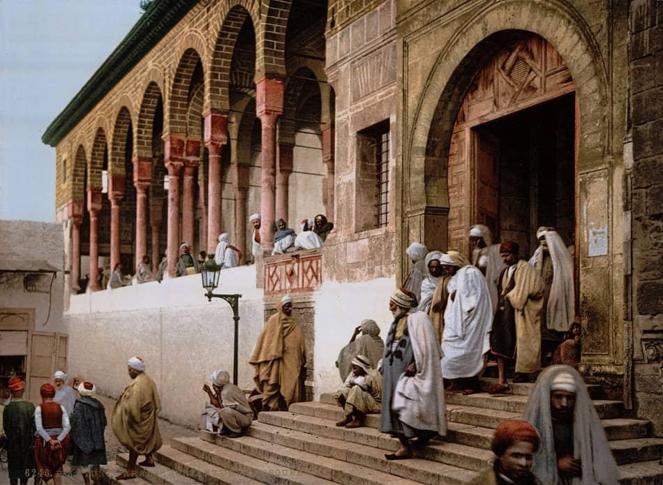 صورة فوتوغرافية قديمة لجامع الزيتونة في تونس