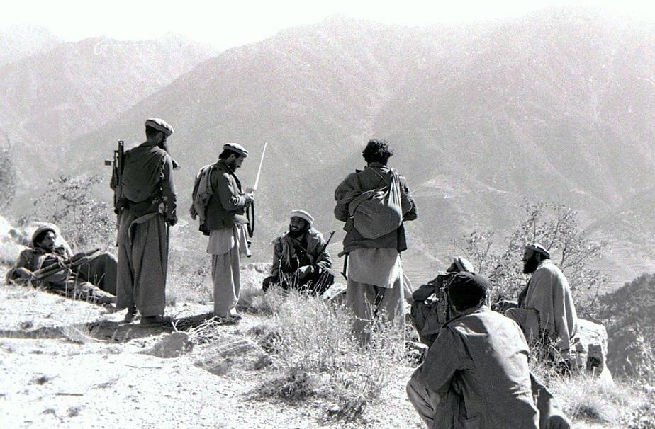 مجاهدون أفغان ضد الاتحاد السوفييتي عام 1987