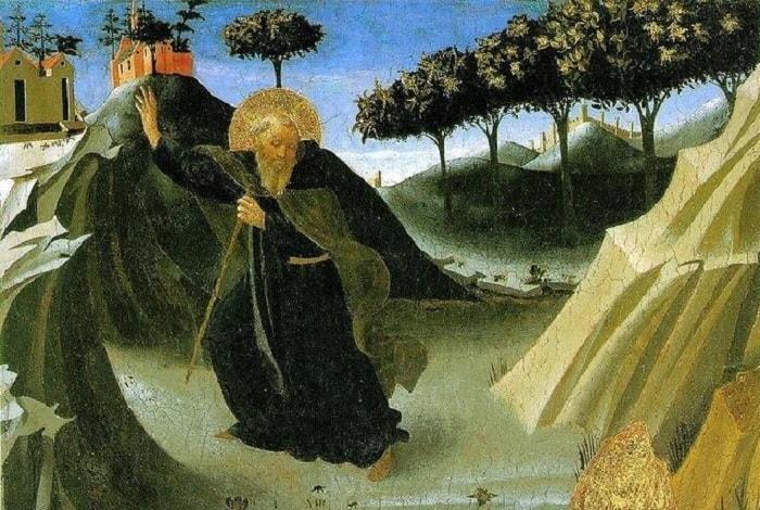 لوحة إغراء الأنبا أنطونيوس