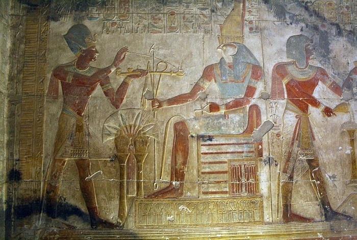 لوحة من معبد أوزوريس