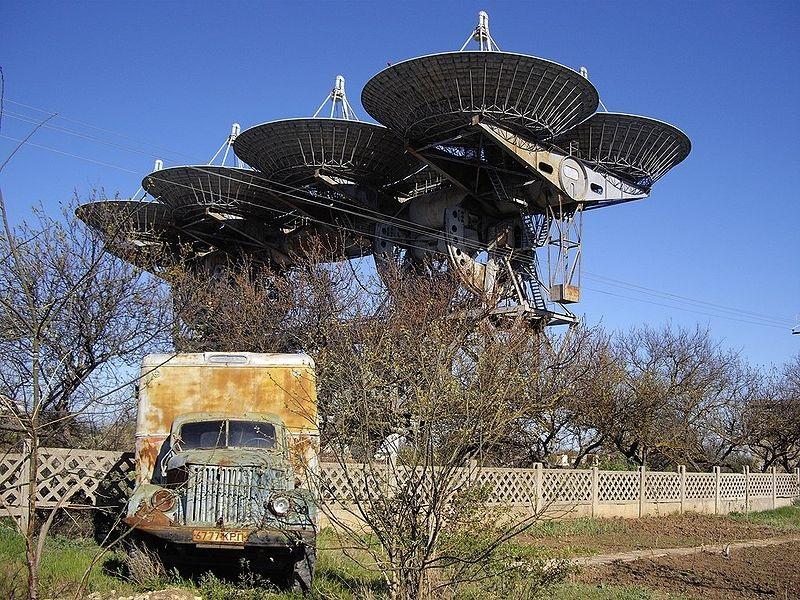 محطة الإرسال التي استخدمت في بث أول محاولة تواصل مع فضائيين