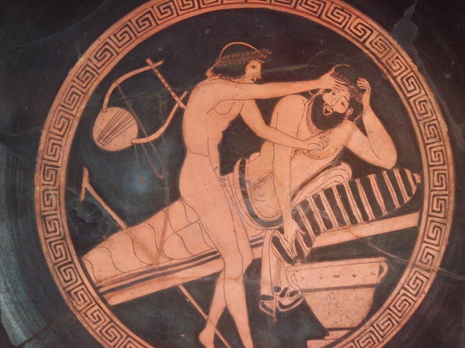 جدارية يونانية تصف علاقة مثلية الجنس