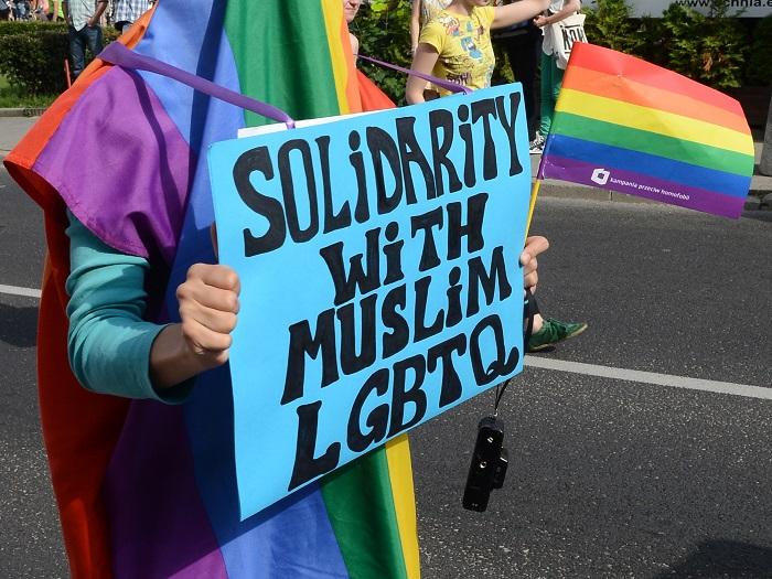 متظاهرون يتضامنون مع المثليين المسلمين