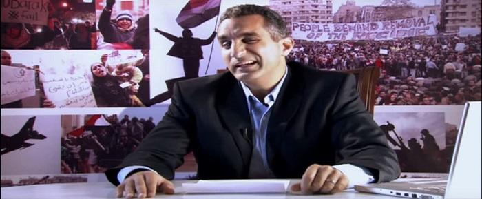 لقطة من برنامج باسم يوسف شو - الحلقة الأولى
