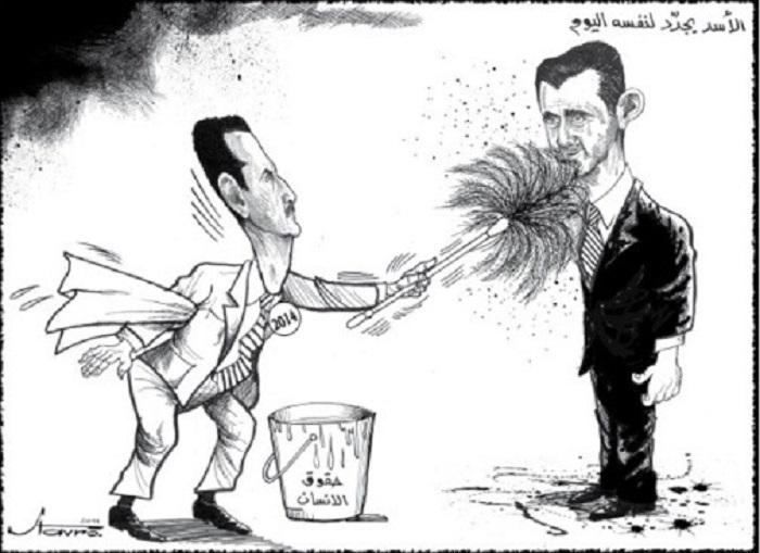 كاريكاتير للفنان اللبناني ستافرو