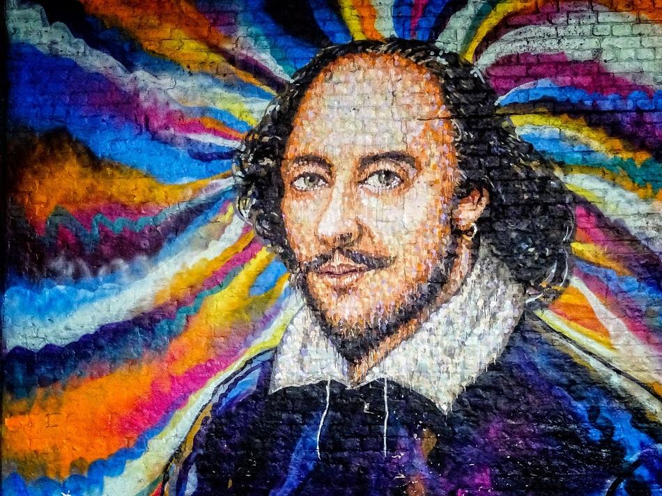 غرافيتي لشكسبير في لندن