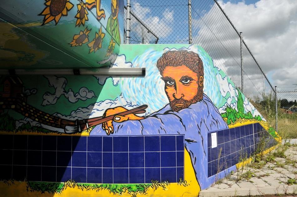 غرافيتي للرسام فان غوخ