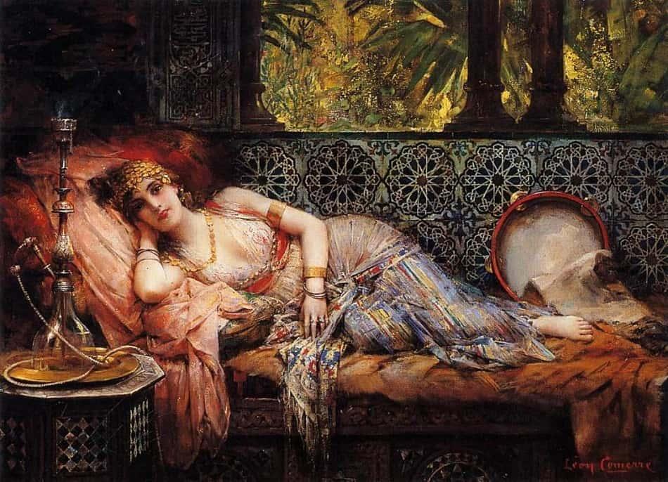 لوحة للأميرة الأندلسية ولادة بنت المستكفي