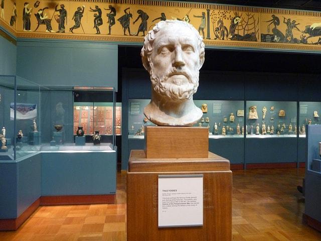 تمثال ثيوسيديدس في متحف